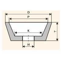 Шлифовальный круг чашечный конический (Тип 11)