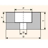 Шлифовальный круг с выточкой (Тип 5)