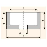 Шлифовальный круг чашечный цилиндрический (Тип 6)
