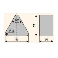 Сегмент шлифовальный специальный (Тип 6с)